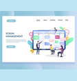 scrum management website landing page vector image vector image