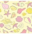 seamless hand drawn background underwater tropical vector image