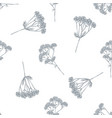 seamless pattern with hand drawn pastel valerian vector image vector image