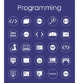 Set of programming simple icons vector image vector image