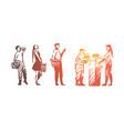 shop queue people customer market vector image vector image