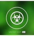 sign radiation icon caution nuclear atom vector image vector image