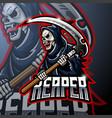 skull ripper logo mascot design vector image