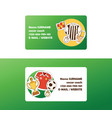 soccer football business card with soccerball and vector image vector image