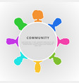 social community infographic concept horizontal vector image vector image