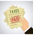 taxes icon vector image
