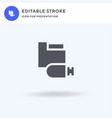 usb drive icon filled flat sign solid vector image vector image