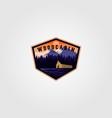 vintage cabin adventure logo design vector image vector image