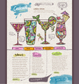 Website cocktail design template vector image vector image