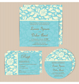wedding cards set blue vector image vector image