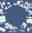 white clouds and wind blows on blue sky background vector image