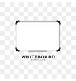 whiteboard graphic design template vector image