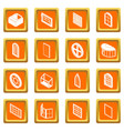 window forms icons set orange square vector image vector image