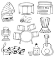 Doodle of music object art vector image