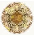 Grunge hand drawn circular floral ornament vector image