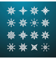 Paper Christmas Star Set on Blue Background vector image