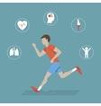 Running Health Infographics vector image