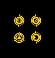 abstract circle technology logo vector image