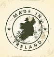 Stamp with map of Ireland vector image