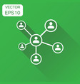 network icon business concept people connection vector image