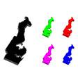 3d map of monaco vector image vector image