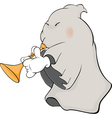 a ghost-musician cartoon vector image vector image