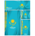 abstract kazakhstan flag background vector image vector image