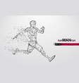 abstract silhouette a running athlete man vector image