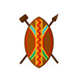 african shield spear and hammer authentic vector image