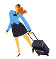 air hostess or stewardess flight attendant in vector image vector image