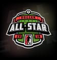 all stars of soccer logo emblem vector image vector image