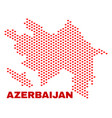 azerbaijan map - mosaic of lovely hearts vector image vector image