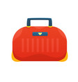 bag flat icon vector image