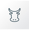 beef icon line symbol premium quality isolated vector image
