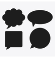 black and white Message bubble speech editable vector image