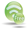 black wifi icon on a white background vector image vector image