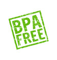 bpa free icon plastic free logo stamp vector image vector image