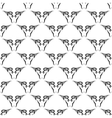 Bull Head Icon Seamless Pattern vector image