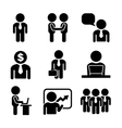 Business and Office People Icon Set vector image vector image