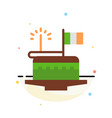 cake celebrate day festival patrick abstract flat vector image