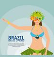 carnival rio garota card vector image vector image