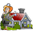 cartoon a house real estate agent vector image
