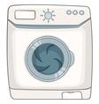 cartoon appliences washing machine vector image