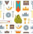 cartoon symbol of mediaeval seamless pattern vector image