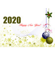 christmas and happy new year with santa and clock vector image vector image