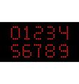 clock digits font vector image vector image