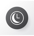 clock icon symbol premium quality isolated time vector image vector image
