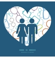 colorful glasses couple in love silhouettes vector image