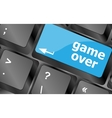 Computer keyboard with game over key - technology vector image vector image