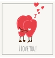 Congratulations card with hearts for Valentines vector image